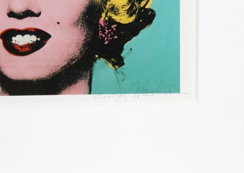 """Original Signed Andy Warhol """"Turquoise Marilyn 1962"""" - 3"""