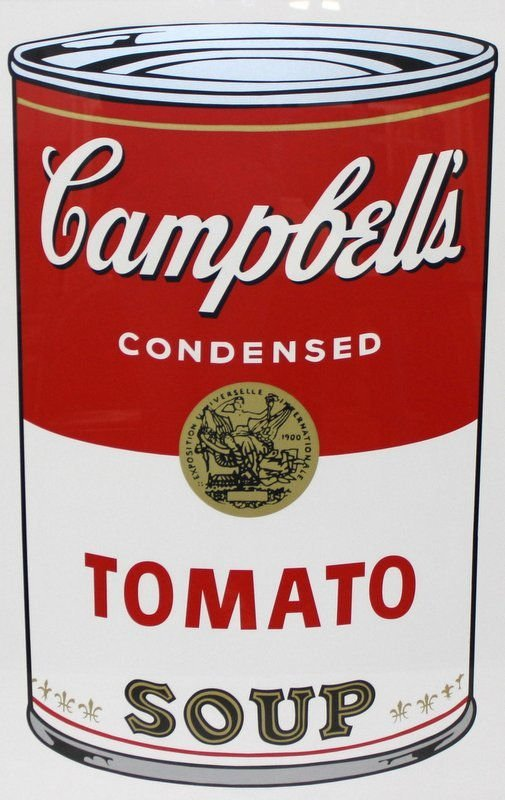 "Andy Warhol ""Soup Can"" Sunday B Morning Print"