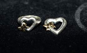 Tiffany & Co. Sterling & 18Kt YG Heart Ring & Pendant