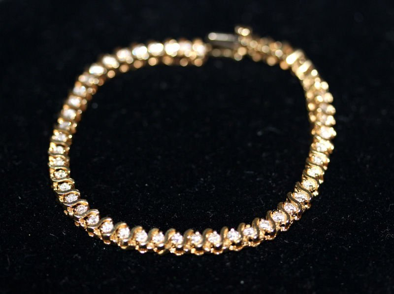 14Kt YG 1.60ct. Diamond Bracelet