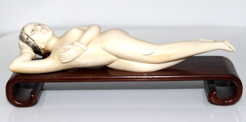 Chinese Carved Ivory Doctor Lady
