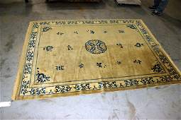 Antique Chinese Soft Spun Oriental Rug