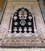 Rare Turkish Hereke Silk Prayer Rug