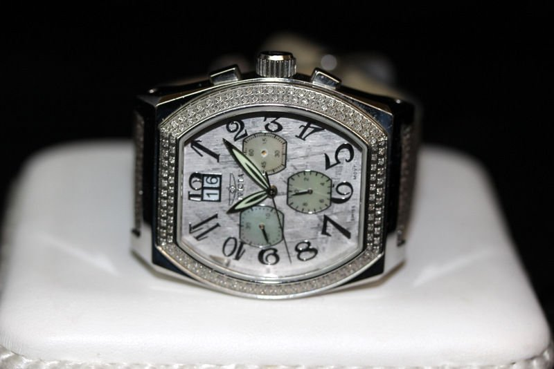 Invicta Acero Diamond Chronograph Meteorite Men's Watch