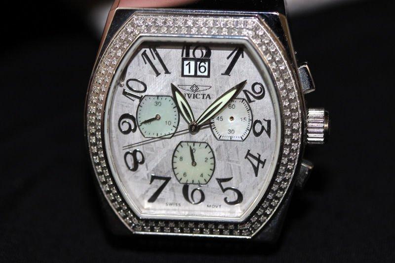 Invicta Acero Diamond Chronograph Meteorite Men's Watch - 2