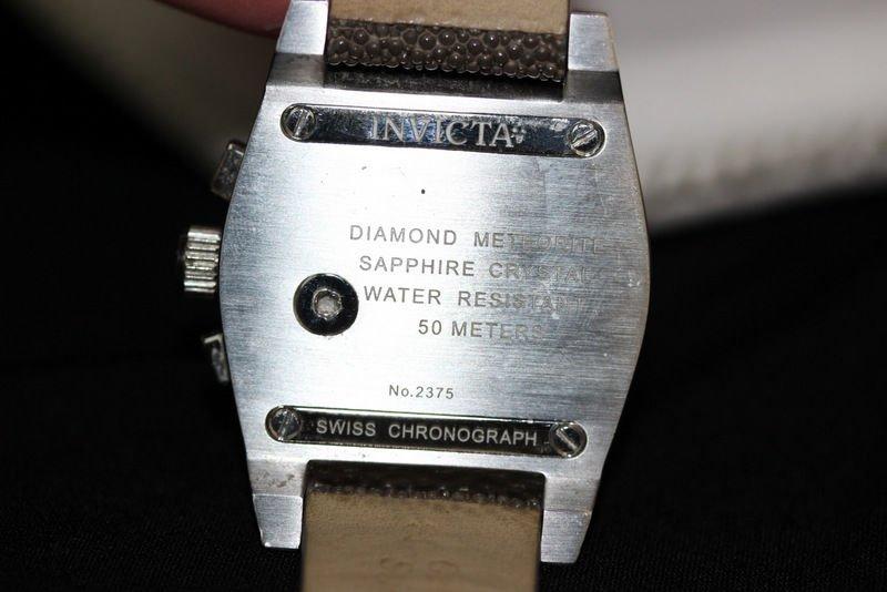 Invicta Acero Diamond Chronograph Meteorite Men's Watch - 3