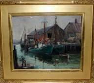 Emile Albert Gruppe (American 1896-1978) Oil on Panel
