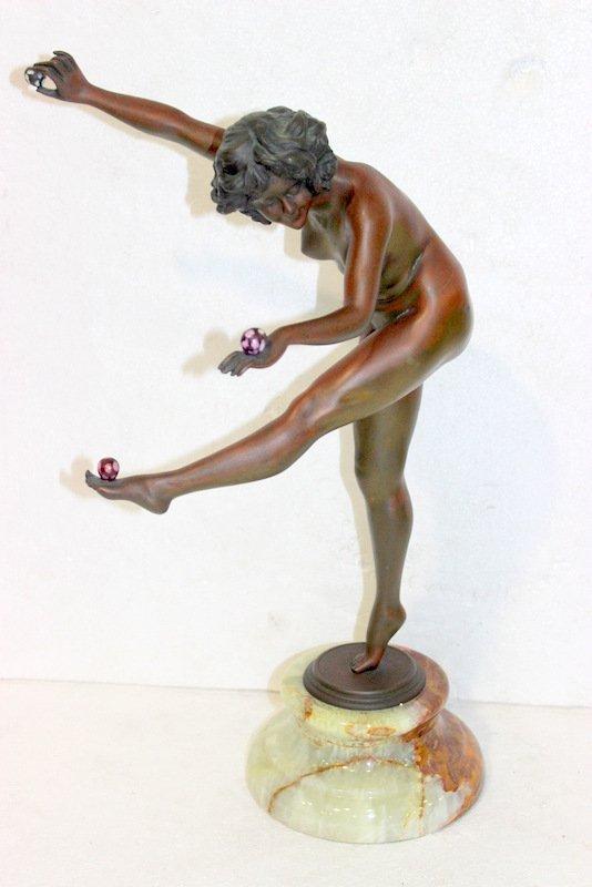 "Claire Jeanne Roberte Colinet ""The Juggler"" Bronze"