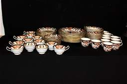 84 Pc Royal Crown Derby Derby Japan Porcelain China