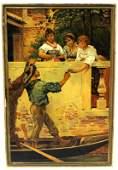 After Eugene de Blaas Italian Oil Painting on Canvas