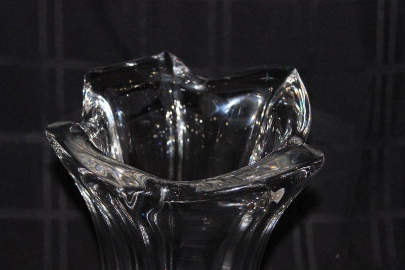 Large Daum France Crystal Vase - 2