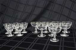 13 Pc Steuben Crystal Glasses Set