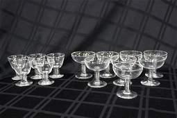 13 Pc. Steuben Crystal Glasses Set
