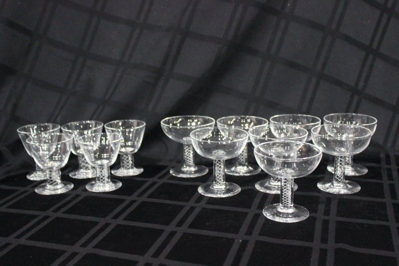 13 Pc. Steuben Crystal Glasses Set
