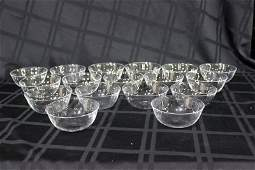 17 Pc. Baccarat Crystal Miniature Bowls