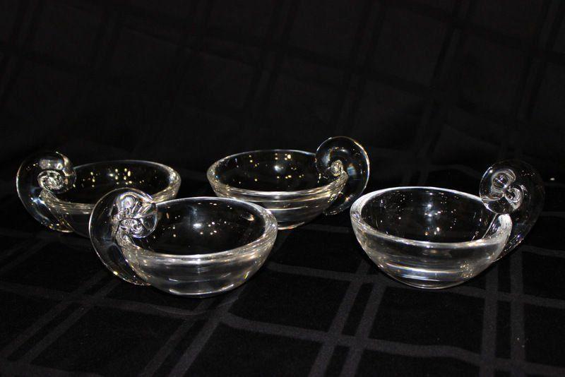 4 Pc. Steuben Crystal Candy Bowls