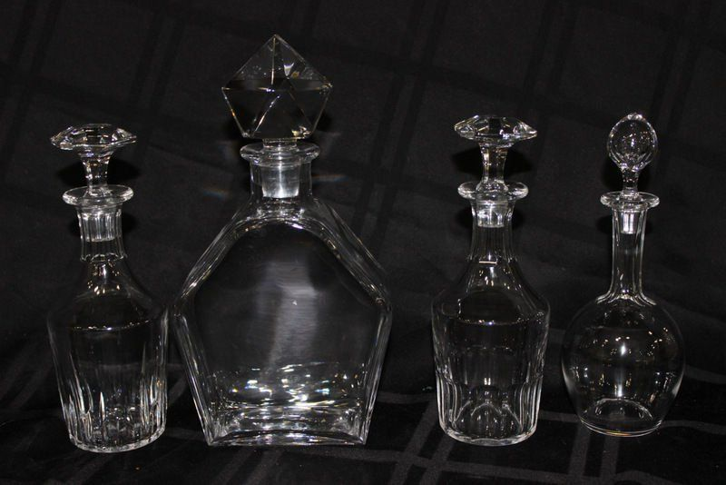 4 Pc. Baccarat Crystal Decanters