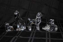 4 Pc Baccarat Crystal Animals