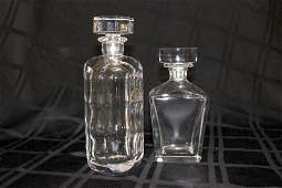 2 Pc. Orrefors Crystal Decanters