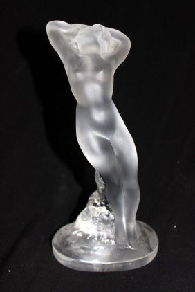 Lalique France Crystal Nude Figure