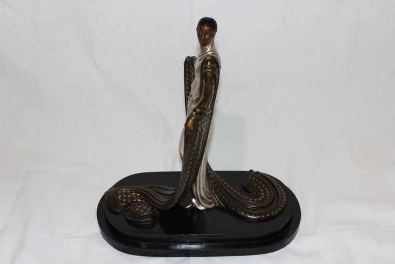 """Erte """"La Mysterieuse"""" Bronze Sculpture"""