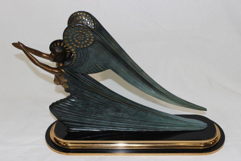 """Erte """"The Angel"""" Bronze Sculpture"""