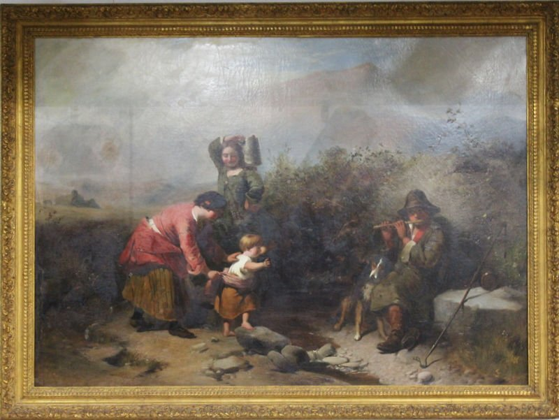 Antique Unsigned Oil Painting on Canvas