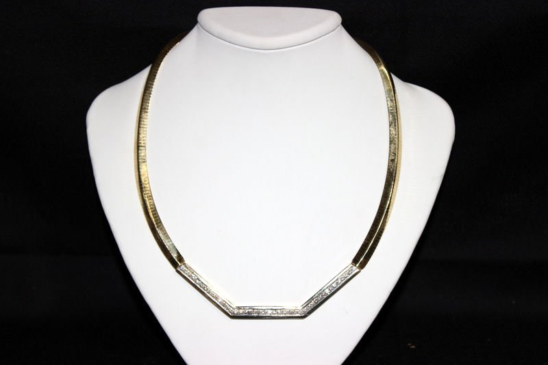 14Kt YG Approx. 2.00ct. Diamond Necklace