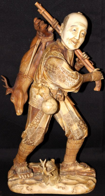 Japanese Carved Ivory Group