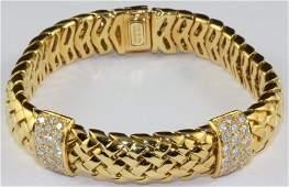 Tiffany & Co. 1995 18Kt Diamond Vanerie Bracelet