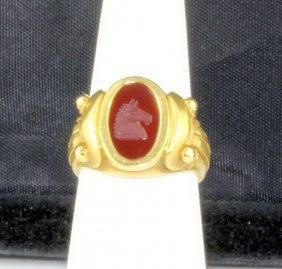 Kieselstein & Cord Luna Collection Intaglio Ring Circa