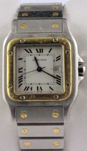 Cartier Santos Automatic 1990's Wristwatch