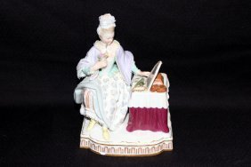 Meissen Hand Painted Porcelain Woman
