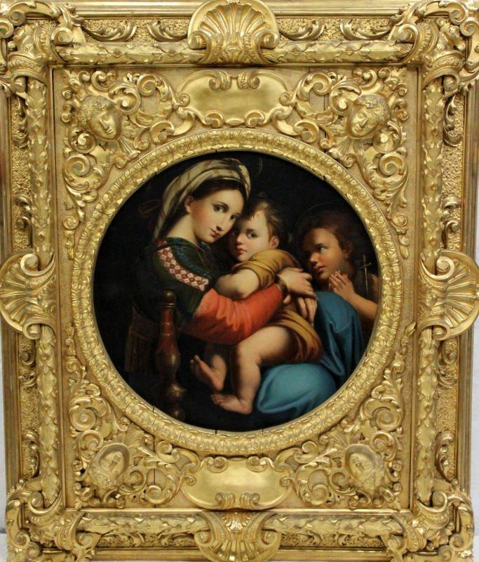 """18-19th C. Italian Renaissance """"Madonna della Seggiola"""
