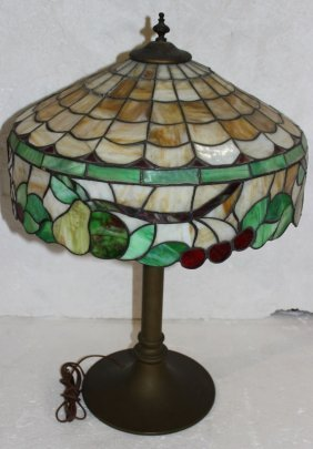 Antique Chicago Stained Glass Lamp