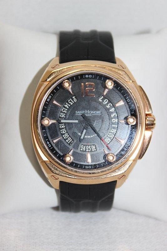 Saint Honore Men's Haussman Rose Gold Tone Watch