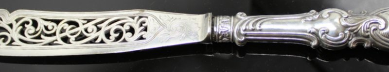 Antique Sterling Pierced Fish Knife