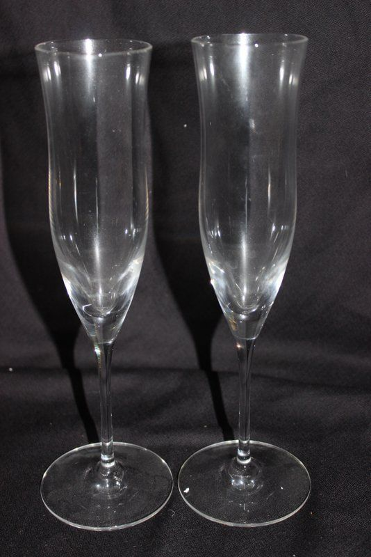 7 Pc. Steuben Crystal Flutes