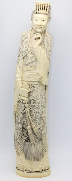 Beautiful Chinese Carved Ivory Of Immortal