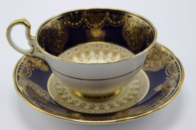 24 Pc. Aynsley Bone China Cups & Saucers