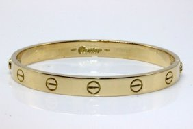 "Cartier 18kt Yg ""love"" Bangle"