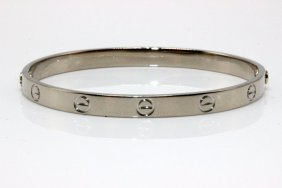"Cartier 18kt Wg ""love"" Bangle"