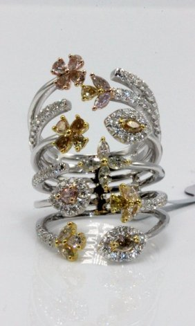 18kt Two Tone 1.89ct. Diamond Ring
