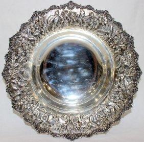 Beautiful Kirk & Sons Sterling Floral Bowl