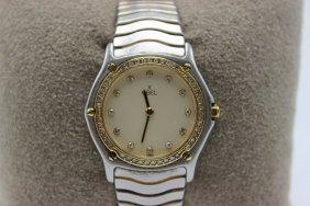 Ebel 18kt & Stainless Steel Diamond Ladies Watch