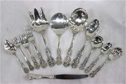 """67 Pc. Reed & Barton """"Francis 1st"""" Sterling Flatware"""