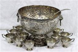 Beautiful Frank M Whiting Sterling Punch Set