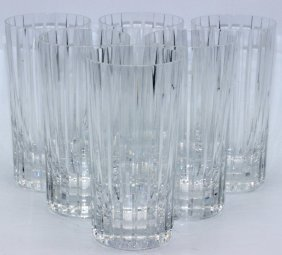 "6 Pc. Baccarat ""harmonie"" Highball Glasses"