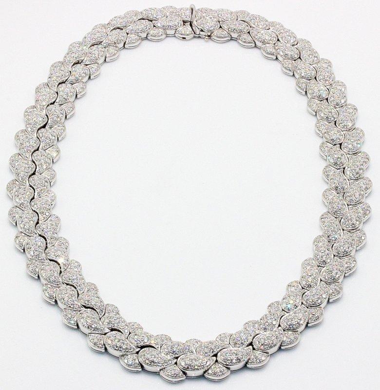 Fe S. Panlilio 18Kt WG 55.00ct. Diamond Casmir Necklace