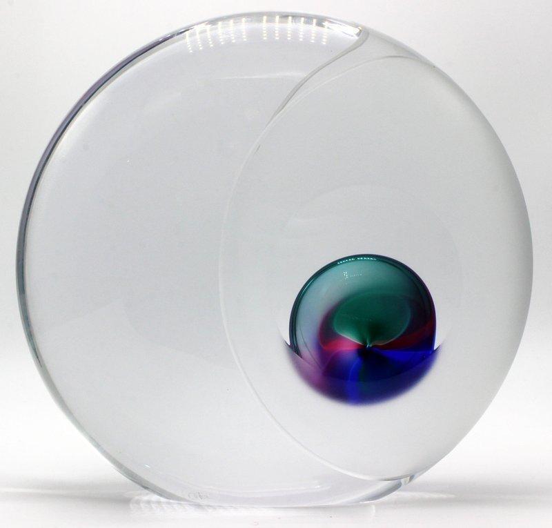 Rare Oggetti Murano Glass Orb Sculpture